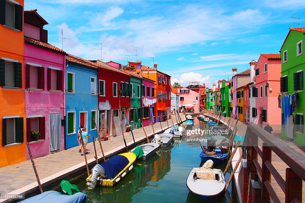 Burano is island in Venetian Lagoon, northern Italy.