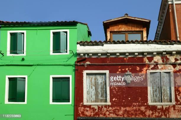 Burano island Venice Veneto Italy Europe