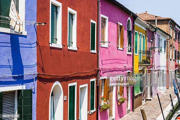 Burano, the typical colourful houses