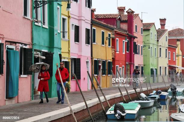 Burano's colorful houses Venice Italy