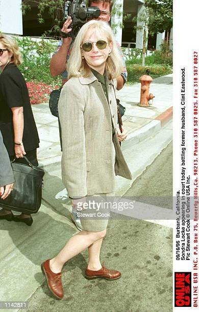 Burbank California Sondra Locke appearing in court today battling with former husband Clint Eastwood