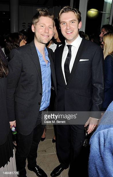 Burberry Chief Creative Officer Christopher Bailey and actor Dan Stevens attend as Christopher Bailey and Eddie Redmayne host a cocktail party to...