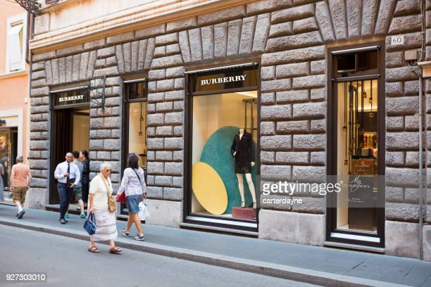 Burberry Luxury Shopping in Rome Italy, Europe