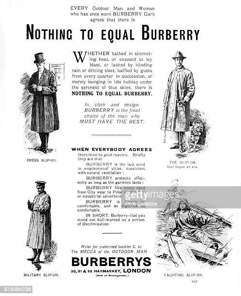 Burberry's', 1909. Burberry magazine advert. From British Military Prints, by Ralph Nevill. [The Connoisseur, London, 1909]. Artist Unknown