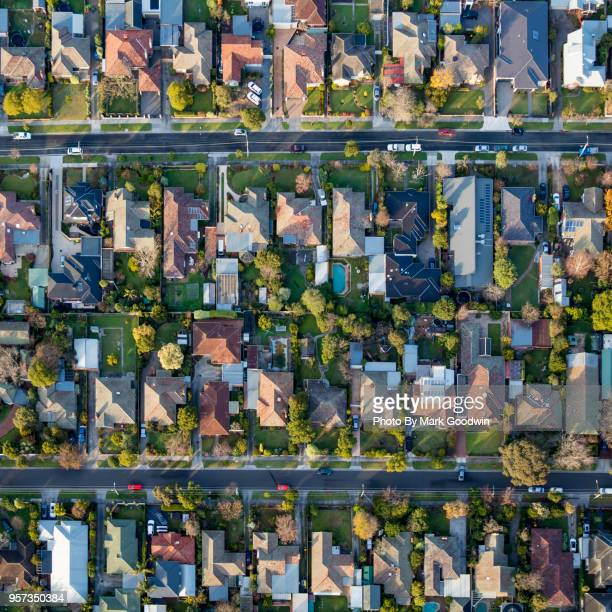burbs from above - aerial view stock pictures, royalty-free photos & images