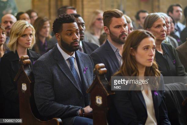 """Burden of Truth"""" Episode 716 -- Pictured: Kara Killmer as Sylvie Brett, LaRoyce Hawkins as Kevin Atwater, Eamonn Walker as Wallace Boden, Patrick..."""