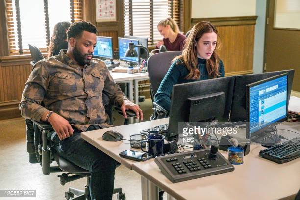 "Burden of Truth"" Episode 716 -- Pictured: LaRoyce Hawkins as Kevin Atwater, Marina Squerciati as Kim Burgess --"