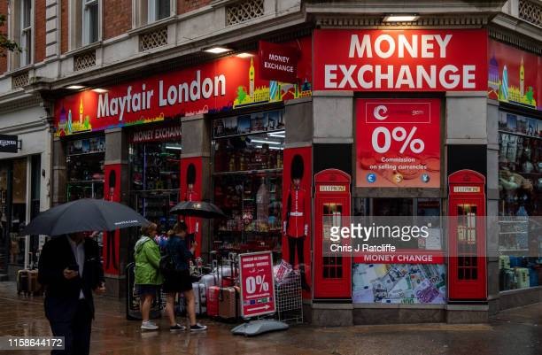 A bureau de change on Oxford Street as British Pound Sterling has slumped to a 28month low on July 30 2019 in London England Sterling dropped below...