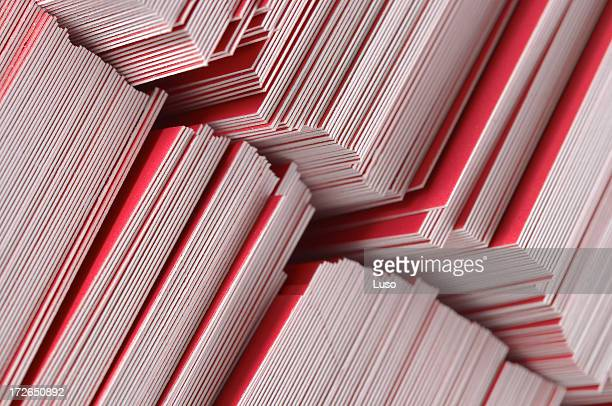bureaucracy (pile of paper) - business cards stock photos and pictures