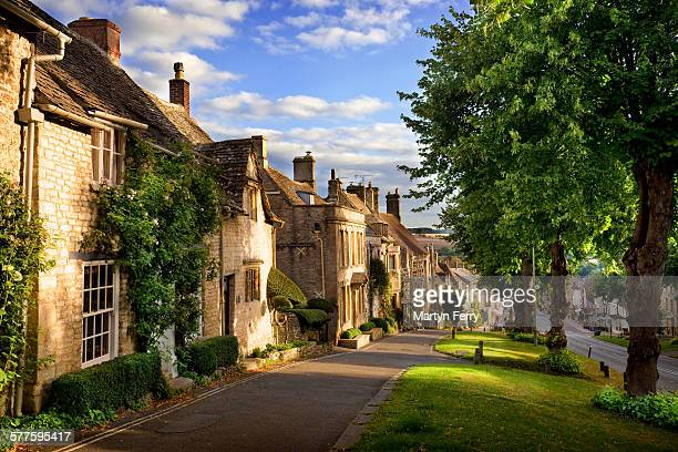 burford morning - oxfordshire stock pictures, royalty-free photos & images