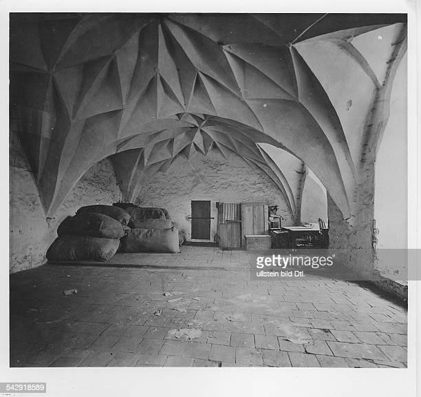 Burg Allenstein Ostpreussen Innenansicht Saal im Hauptgeschoss 1927