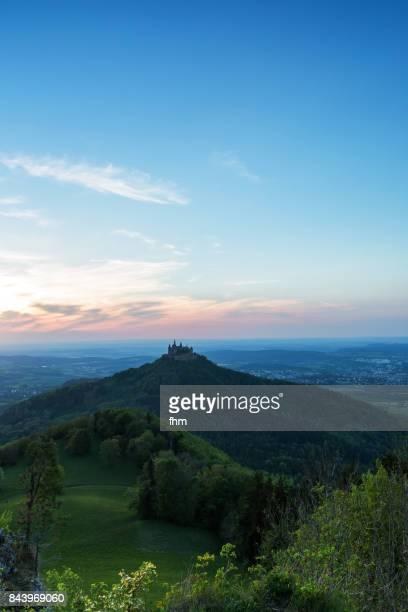 Burg Hohenzollern (Hohenzollern Castle) at sunset (Baden-Württemberg/ Germany)