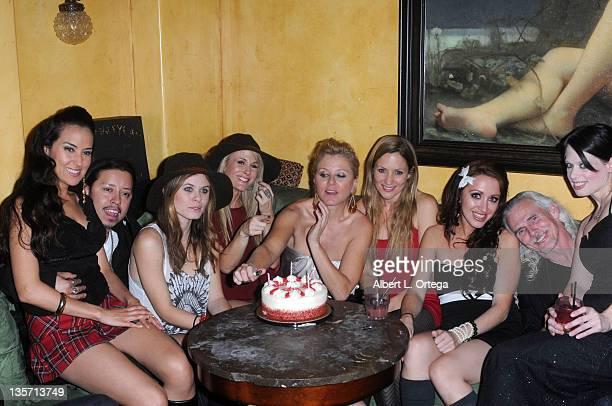 Burgandy Phoenix; Carlos Ramirez; Augie Duke; Chanel Ryan; Noel Thurman; Jessica Sonneborn; Camden Toy; Jill Valentine seen at Chanel Ryan's Birthday...