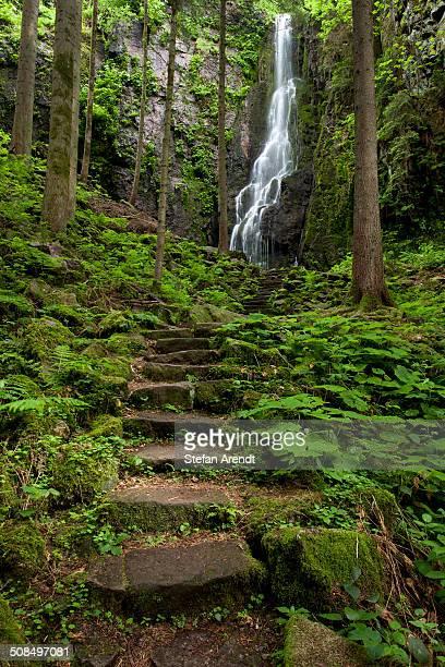Burgbach Waterfall in Schapbach, Black Forest, Baden-Wuerttemberg, Germany, Europe