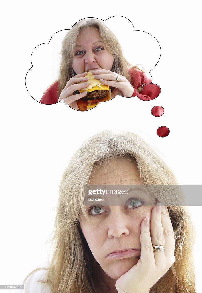 burger binge series -  diet : Stock Photo