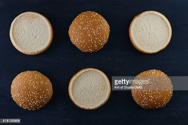 Burger bun sesame seeds