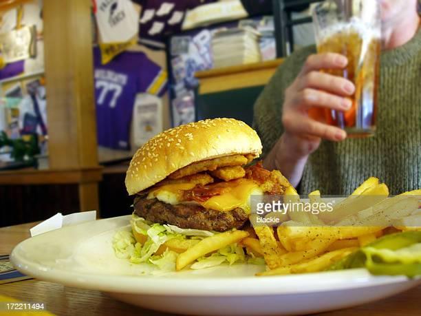 Burger & Fries - food