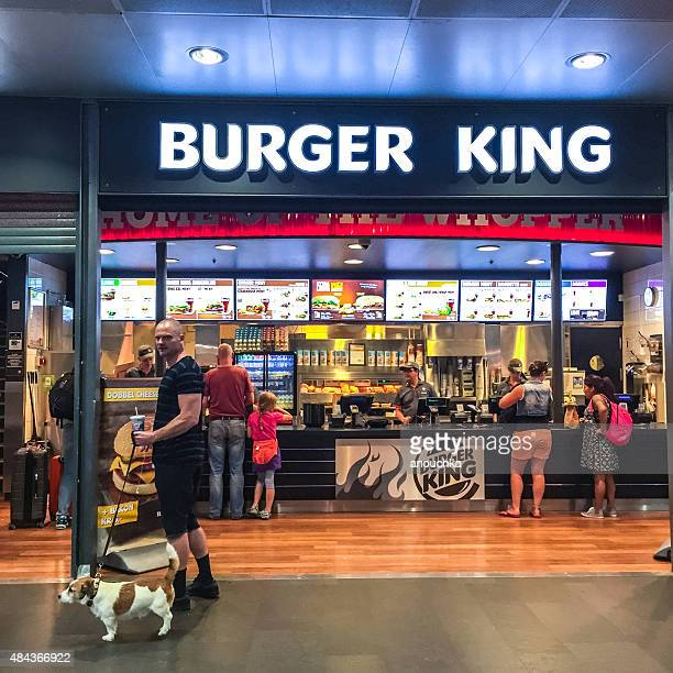burger king at oslo central train station, norway - burger king stock pictures, royalty-free photos & images