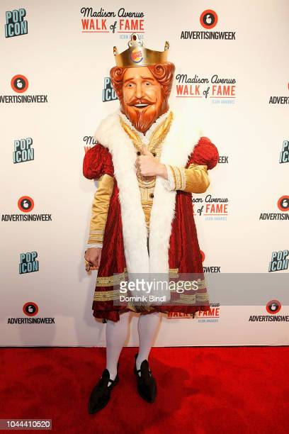 Burger King attends Madison Avenue Walk of Fame Icon Awards at PlayStation Theater on October 1 2018 in New York City