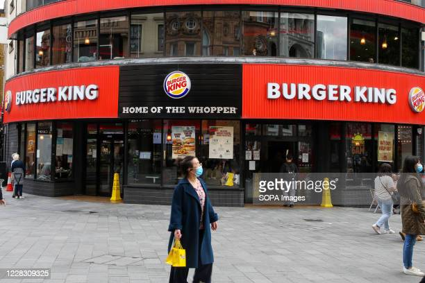 Burger King branch seen in central London.