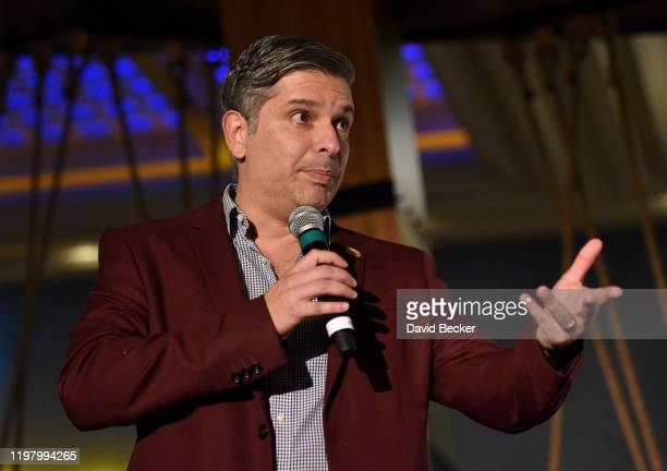 Burger King Chief Marketing Officer Fernando Machado speaks during an Impossible Foods press event for CES 2020 at the Mandalay Bay Convention Center...