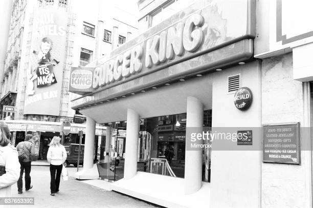 Burger King Coventry Street London 11th January 1980.