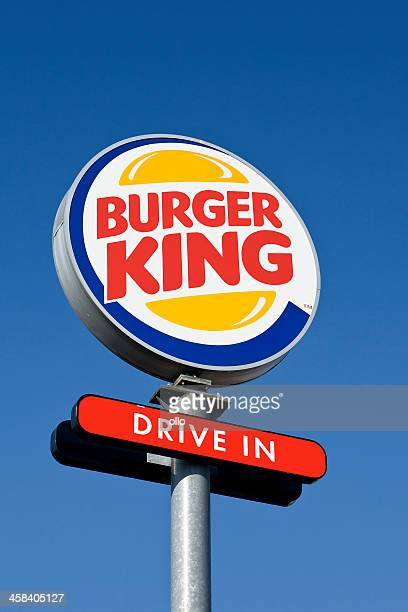 burger king drive-in outdoor billboard - burger king stock pictures, royalty-free photos & images