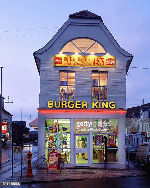 burger king in alborg in denmark - burger king stock pictures, royalty-free photos & images