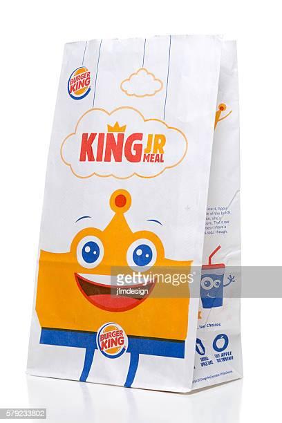 Burger King kids meal takeout bag side