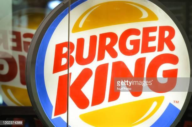 Burger King logo seen the entrance to Tower Bridge Metro Station. On Saturday, 25 January 2019, in London, United Kingdom.