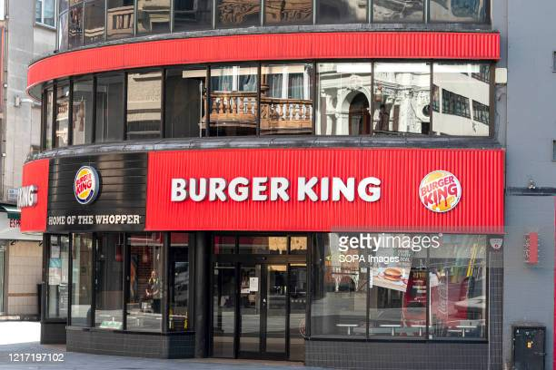 Burger King logos at their restaurant in Leicester Square.