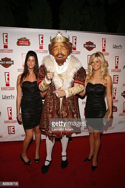 Burger King mascot and models attend the E 1st Anniversary Bash held at Spicy Route Restaurant during the 2008 Toronto International Film Festival on...