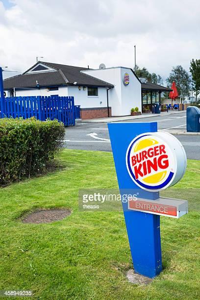 burger king restaurante y drive-a, glasgow - theasis fotografías e imágenes de stock