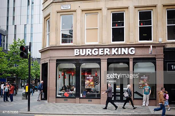 burger king restaurant, glasgow - theasis stock pictures, royalty-free photos & images