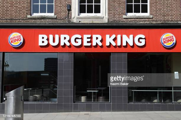 Burger King restaurant is seen closed due to the current coronavirus pandemic on April 19, 2020 in Southampton, England. In a press conference on...