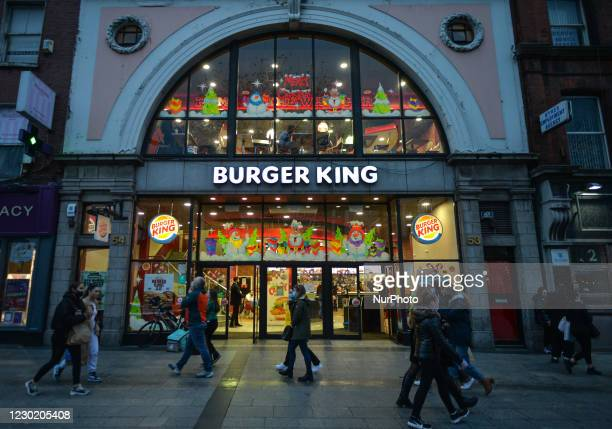 Burger King restaurant on O'Connell Street in Dublin. On Friday, December 18 in Dublin, Ireland.