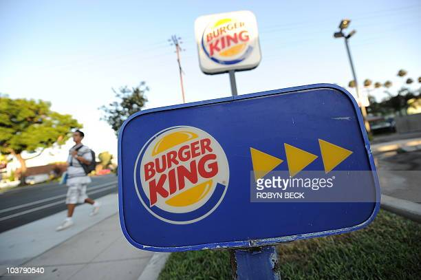 A Burger King sign outside a restaurant in Glendale California on September 2 2010 Burger King the secondlargest US hamburger chain will be sold to...