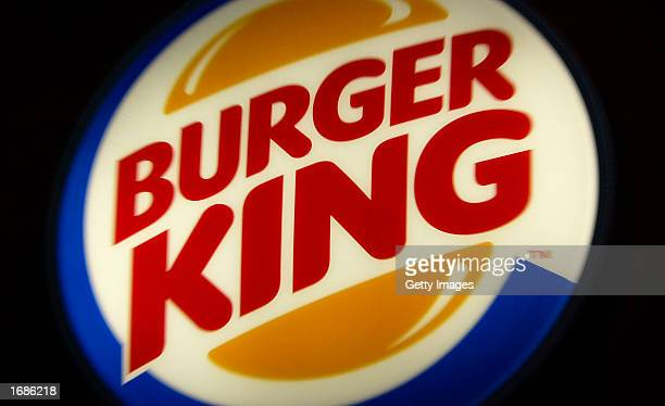 Burger King sign restaurant December 13 2002 in London Diageo PLC the world's largest liquor company has finalized the sale of its chain of fastfood...