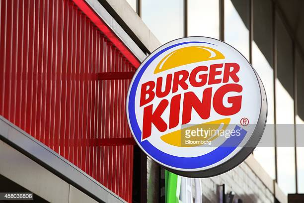 A Burger King sign sits on display outside a fast food restaurant operated by Burger King Worldwide Inc in Moscow Russia on Tuesday Oct 28 2014 More...