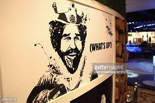 Burger King signage displayed at Burger King PreParty with performance by Tyga during ComicCon International 2016 at PETCO Park on July 20 2016 in...