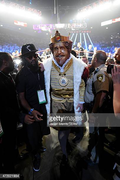 Burger King walks backstage at 'Mayweather VS Pacquiao' at MGM Grand Garden Arena on May 2 2015 in Las Vegas Nevada