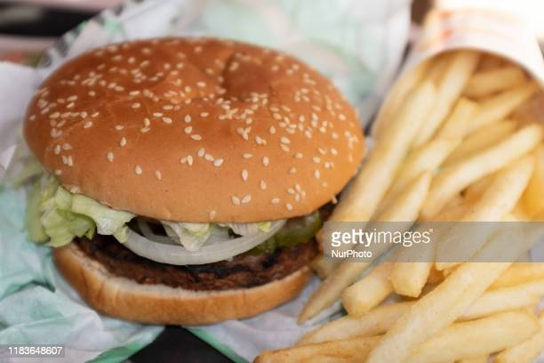 Burger King's vegan Impossible Whopper burger is seen in a store in Sunnyvale California United States on Wednesday November 20 2019 A vegan man has...