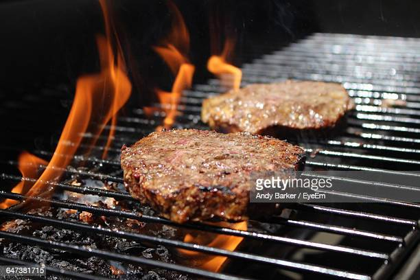 Burger Patty On Grill