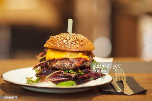burger - unhealthy living stock pictures, royalty-free photos & images