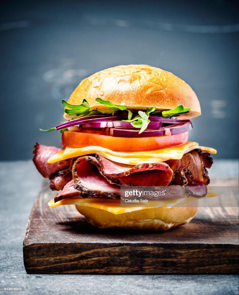 Burger : Stock Photo
