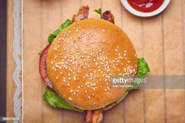burger - bun stock pictures, royalty-free photos & images