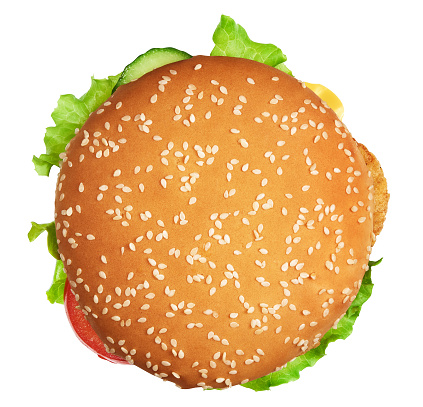 burger with clipping path. Isolated 1005319510
