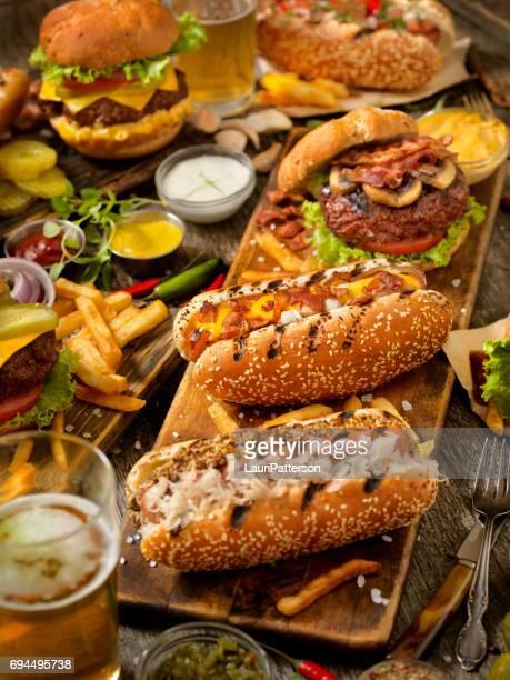 BBQ Burgers and Hotdog Feast