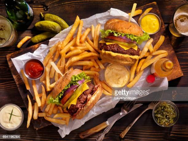 Burgers Fries and Beers