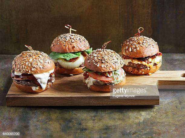 Burgers with beef and chicken
